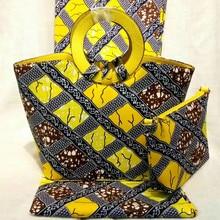 Hot Selling African Super Wax Fabrics And Woman Bag To Match font b Set b font