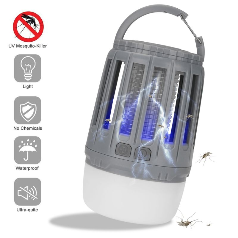 Multifunctional Waterproof USB Mosquito Killer Trapper LED Night Light Lamp Bug Insect Lights Killing Pest Zapper Rechargeable C