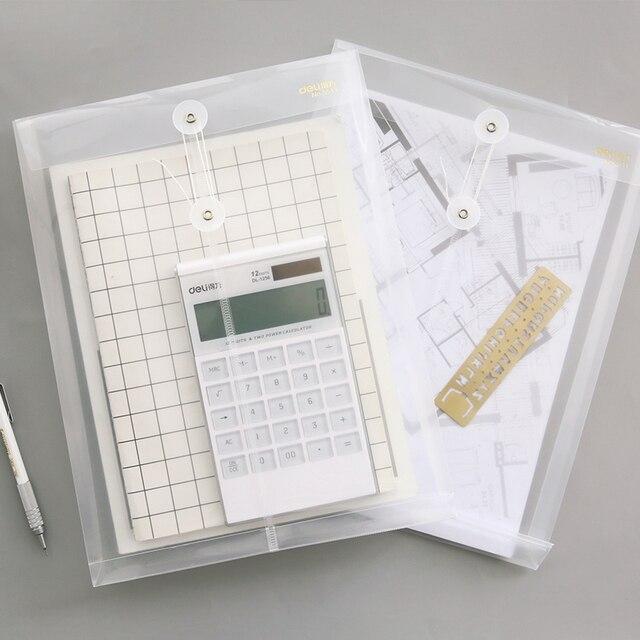 2 pcs/lot A4 simple Envelope Bag Paper Receive Bag Transparent Plastic Data Line File Cover Protection school office supplies