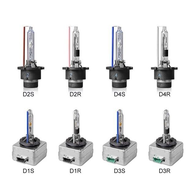 Pair HID Bulb D1S D1R D2S D2R D3S D3R D4S D4R Car Xenon ...