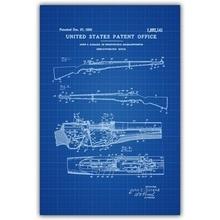 f9c1c19c21c M1 Garand Rifle Patent 1932 Blueprint Wall Art Paint Wall Decor ...