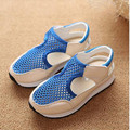 2016 primavera e verão novos sapatos da moda Coreano para meninos e meninas sandálias oco malha respirável sandálias de praia bebê