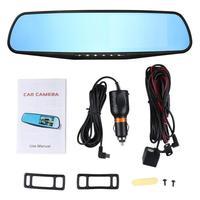 Anytek 4.3'' Car Rearview Mirror Car Dvr Camera HD 1080P Rear View Mirror Digital Video Recorder Dual Lens Auto Dash Cam