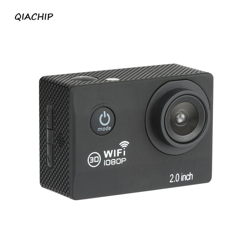 QIACHIP Action Camera Ultra HD 4K Wide Angle Lens 30m Waterproof Sport Camera WiFi Remote Control Helmet Cam camera Sport cam wimius 20m wifi action camera 4k sport helmet cam full hd 1080p 60fps go waterproof 30m pro gyro stabilization av out fpv camera