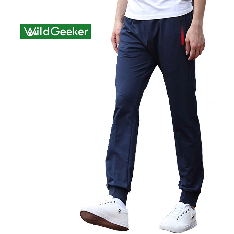 Wildgeeker Men s Sportpants Thin Teenage boy trousers 2017 new spring male casual Mid straight Student