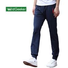Wildgeeker мужская Sportpants Тонкий подросток брюки 2017 новая коллекция весна мужские случайные Середины прямые Студенческие мужские Брюки Спортивной