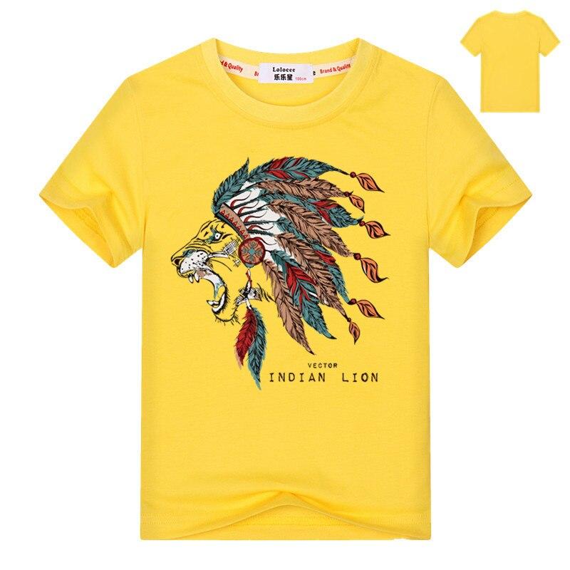 2018 Nieuwe Collectie Indian Lion King Kids 3d Anima T-shirts Homme Korte Mouwen T-shirts Jongens Tee Tieners Casual Fashion Brand T Shirt Verfrissend En Weldadig Voor De Ogen