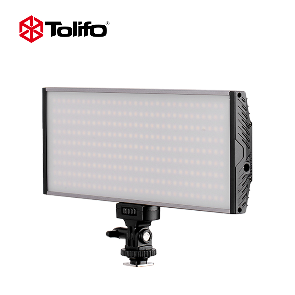 Tolifo Pt-30B 30 Ws Bicolor LED Video Light Portable Panel with LED Display and Hotshoe Mounted for Camera and DSLR or Camcorder