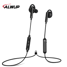 ALWUP Active noise cancelling Sport Bluetooth Earphone Wireless Headphones Hi-Res sports earphone for phone ANC with Mic CSR8645