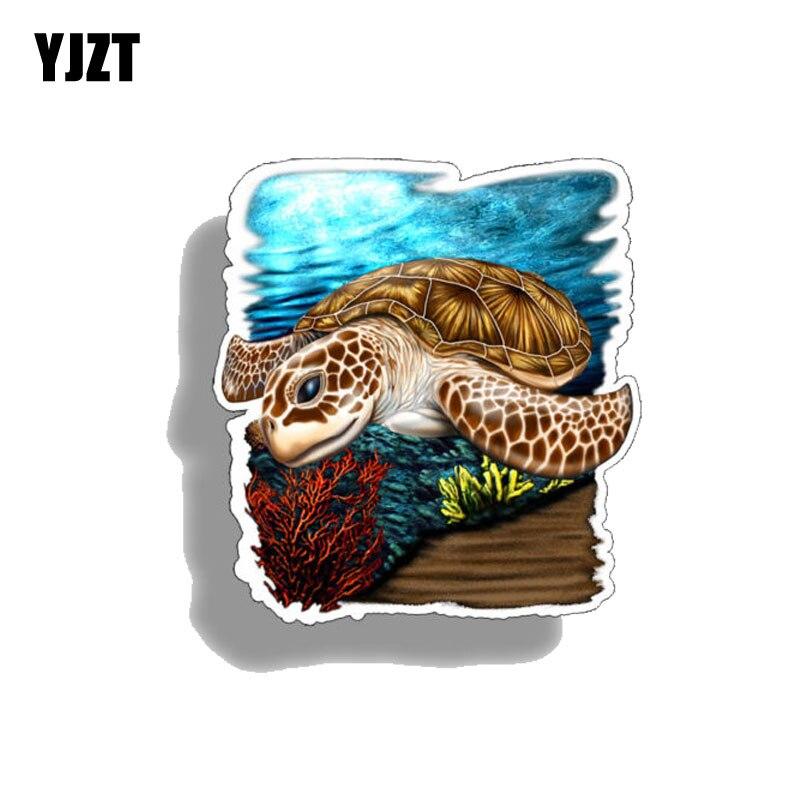 YJZT, 10 см * 10,7 см, индивидуальные автомобильные наклейки Ocean Life Aniamls, ПВХ 12-0533