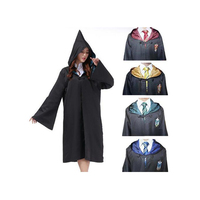 HOT Harri Potter Robe Cosplay Costume High Quality Adult Robe Gryffindor Hufflepuff Ravenclaw Slytherin Cloak Robe