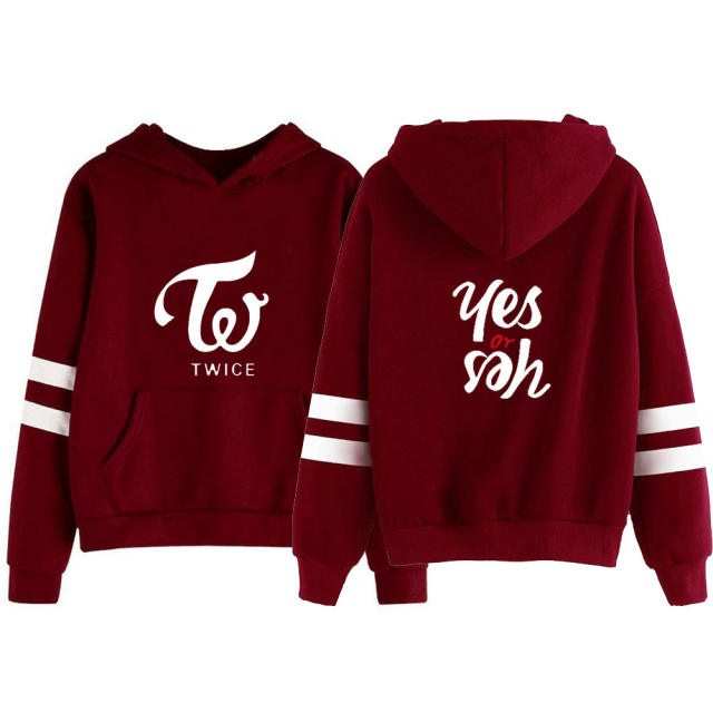 TWICE YES OR YES STRIPED HOODIE (5 VARIAN)