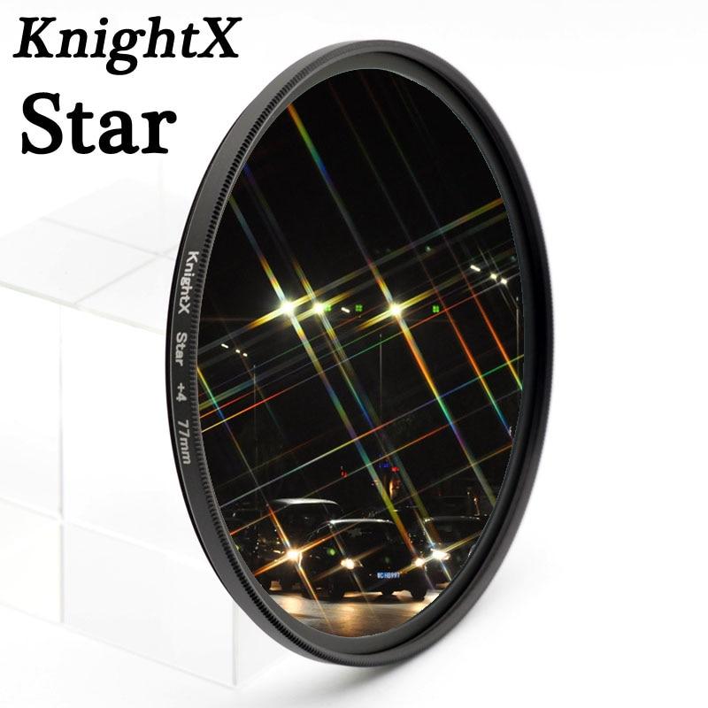 KnightX Estrela Estrela Linha Filtro 4 6 8 Piont Filtro Filtros de Câmera 49 52 55 58 62 67 72 77mm Para Canon Nikon Sony DSLR camera phot