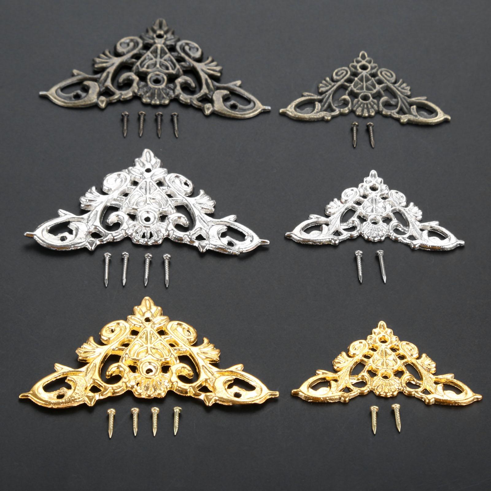4Pcs Antique Bronze Decorative Protectors Jewelry Gift Box Album Feet Leg Corner Protector Drop Ship