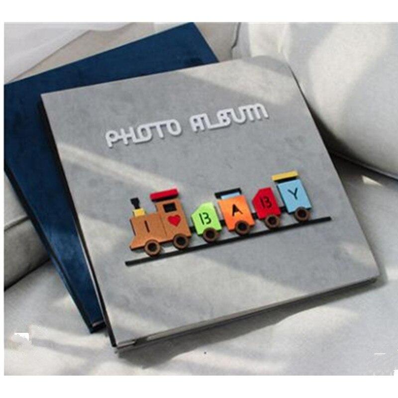 2018 nuovo DIY sticky tipo photo album 18 pollice grande capacità feltro copertura album di famiglia regalo di compleanno