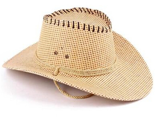 US $10 99 |Summer Cowboy Hats For Men Straw General Large Shape Cowboy Hat  Casual Sun shading Straw Braid Hat-in Men's Cowboy Hats from Apparel