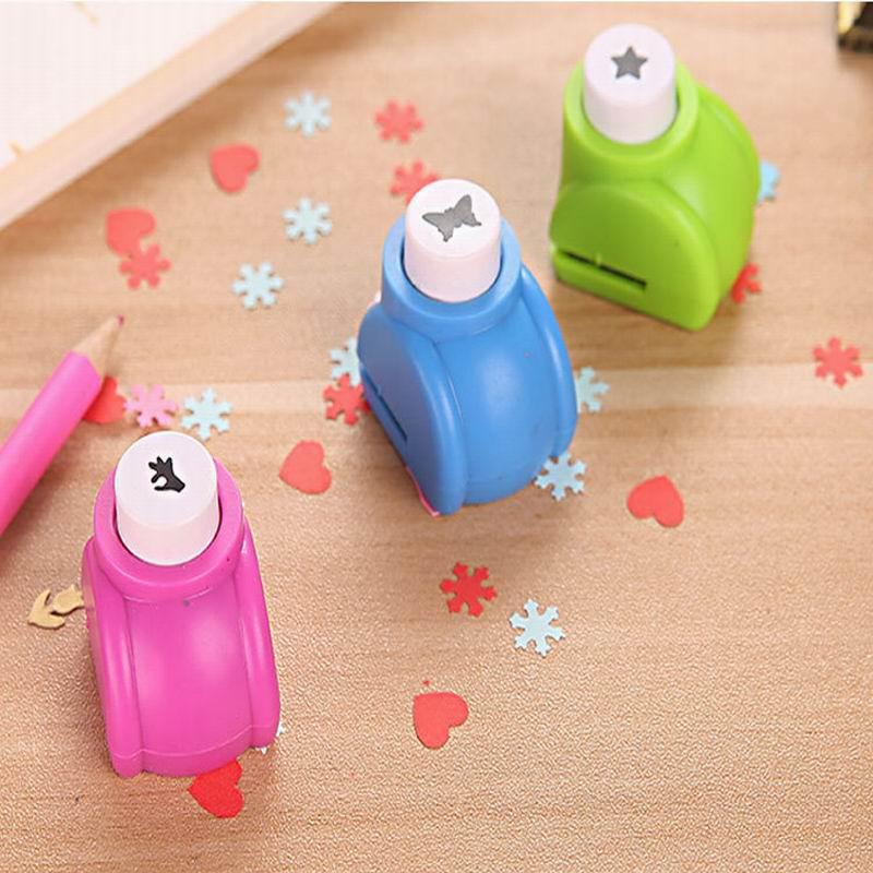 96 pcs Wholesale Random Mini DIY Craft Scrapbooking Handmade Cut Card Hole Puncher For DIY Gift Card Paper Punch