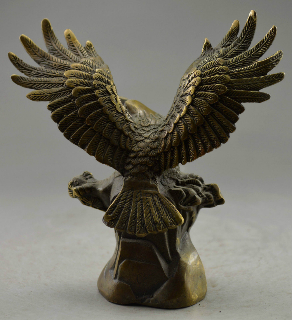 Rare Old Collectible Decorated Old Handwork Copper Carved Eagle Tree Statue copper tools wedding Decoration Brass Bronze|tool grind|decor tools|tool publications - title=