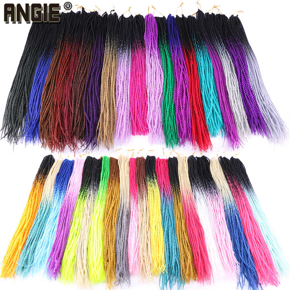 Two Tone Ombre Senegalese Twist Hair Crochet 30 Roots/Pack Synthetic Crotchet Braiding Hair for Women