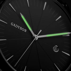 Image 4 - אולטרה דק שעון גברים של קוורץ שעוני יד למעלה מותג יוקרה פלדת רשת תאריך עמיד למים ספורט שעון זכר erkek kol saati 2020
