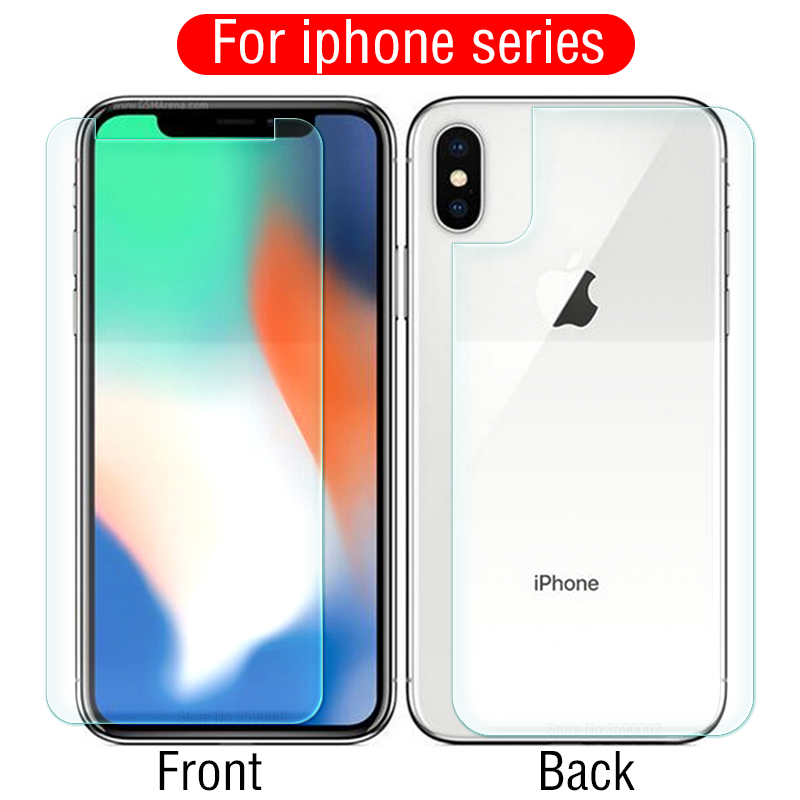 Front and Back Protective Glass For iphone X XS Max XR 10 Glass Screen Protector Tempered Glass