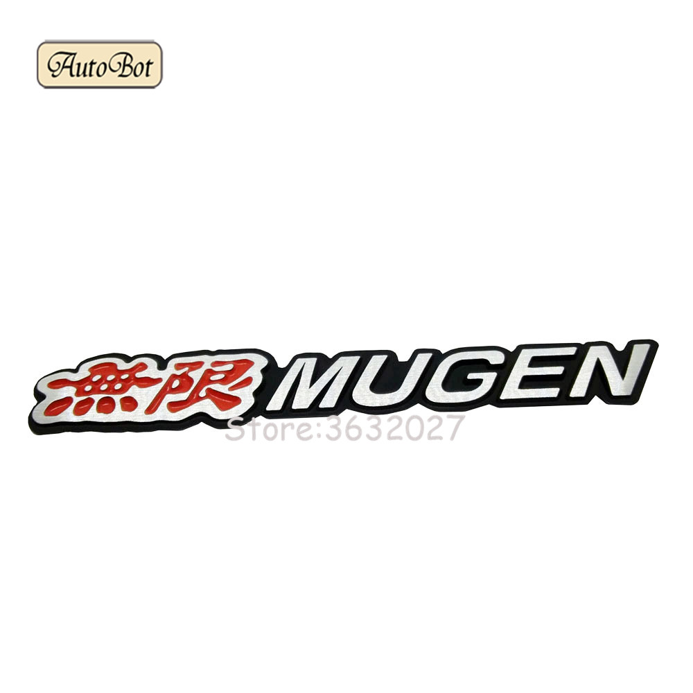 Aluminum Mugen Car Sticker Emblem Chrome Logo Rear Badge