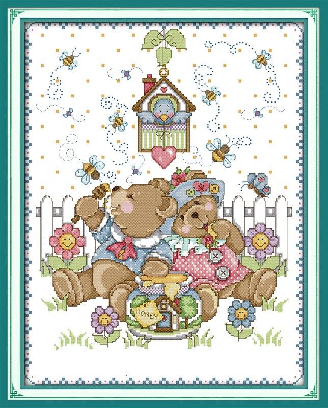 estilo de dibujos animados osos de travieso cielo joy domingo pequeas dimensiones aguja de costura de