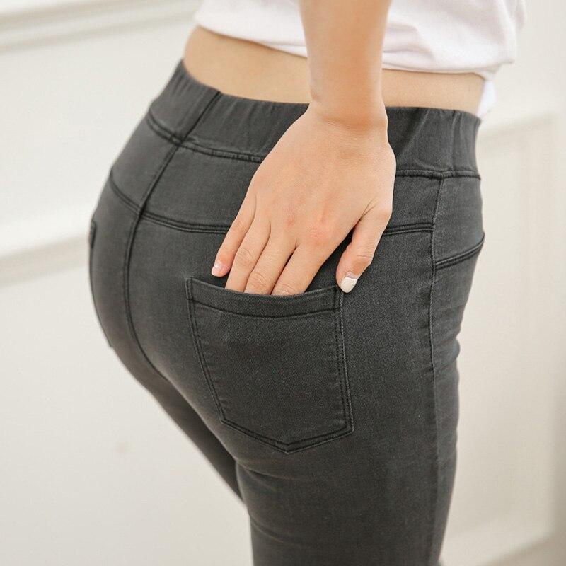 2018 neue einfache mode frauen jeans leggings neun hosen elastische - Damenbekleidung - Foto 4