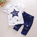 2017 New Fashion Cotton Baby Boy Clothing Star Prints Summer Short Sleeve+Pants 2pcs Baby Set Newborn Infant Girl Clothing