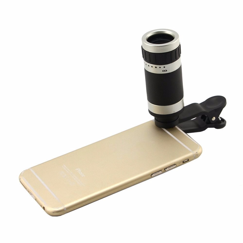 8in1 8x Zoom Phone Camera Lens for Universal Cell Telescope Fisheye Wide Angle Macro Bluetooth Shutter With Selfie Stick Tripod 11