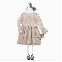 Children S Lace Speaker Sleeves Princess Dress Girls Children S School Children S Wear Dress Fall