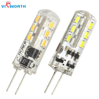 цена на [VisWorth]High Quality G4 Led Lamp 2W Led Bulb AC/DC 12V  Corn Bulb Warm White Cold White Led Light G5.3 Base Led Crystal Lamp