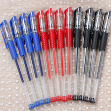 50 pcs /lot 0.5mm black gel pen carbon good writing red metal chirography office & school blue for student