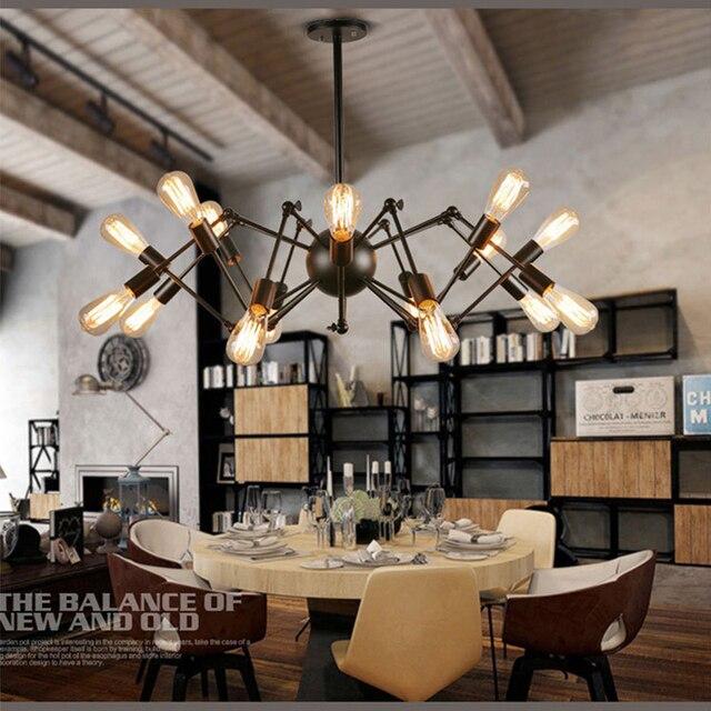 Vintage Industrial Multivariant Metal Chandeliers Creative Spider Droplight  Fixture Pendant Lamp For Foyer,Dining Room