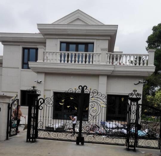 12ft (Width)x8ft(Height) Wrought iron gate design wrought iron gates driveway iron gates garden gates hc-g1