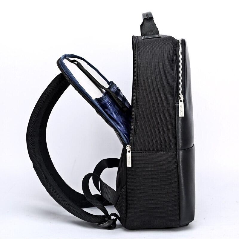 2018 BOPAI Cool hommes sacs à dos homme sac à dos 14 pouces pochette d'ordinateur étudiant cartables hommes voyage en cuir sac à dos sacs noir sac à dos - 2