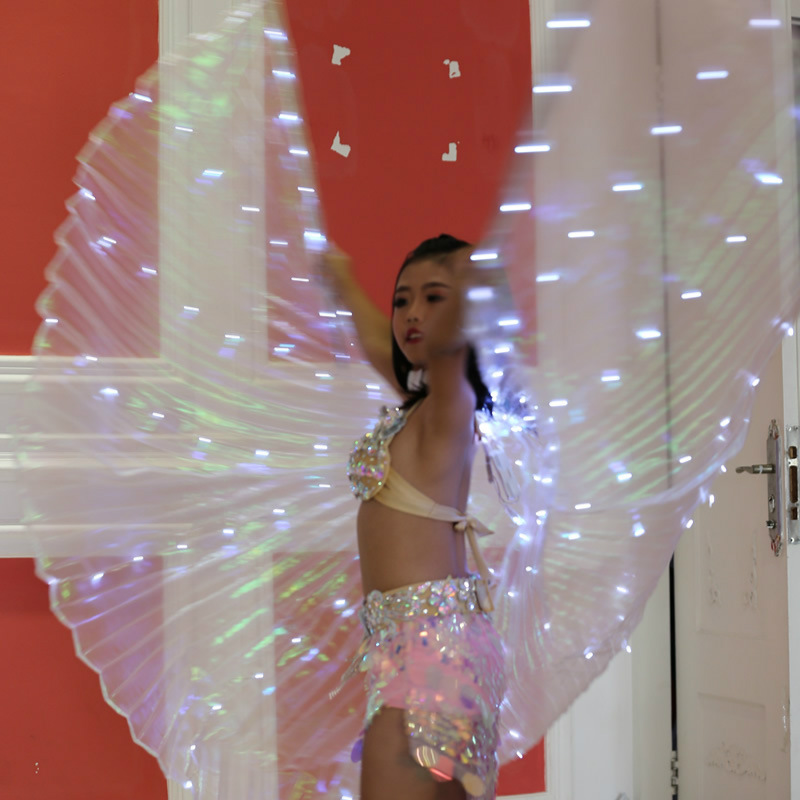 2fa587a49 Ruoru Children Led Isis Wings with Stick White Rainbow Kids Led Shining  Wings Belly Dance Accessories Girls Dance Wings 360 Open-in Belly Dancing  from ...