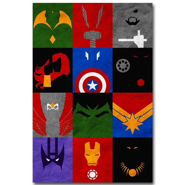 Avengers 2 Age Of Ultron Art Silk Poster Minimalism Print Superheroes Movie Picture For Room Wall Decor Iron Man Hulk Thor 003