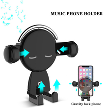 new car holder For Phone phone air outlet gravity induction bracket cartoon creative supplies navigation frame