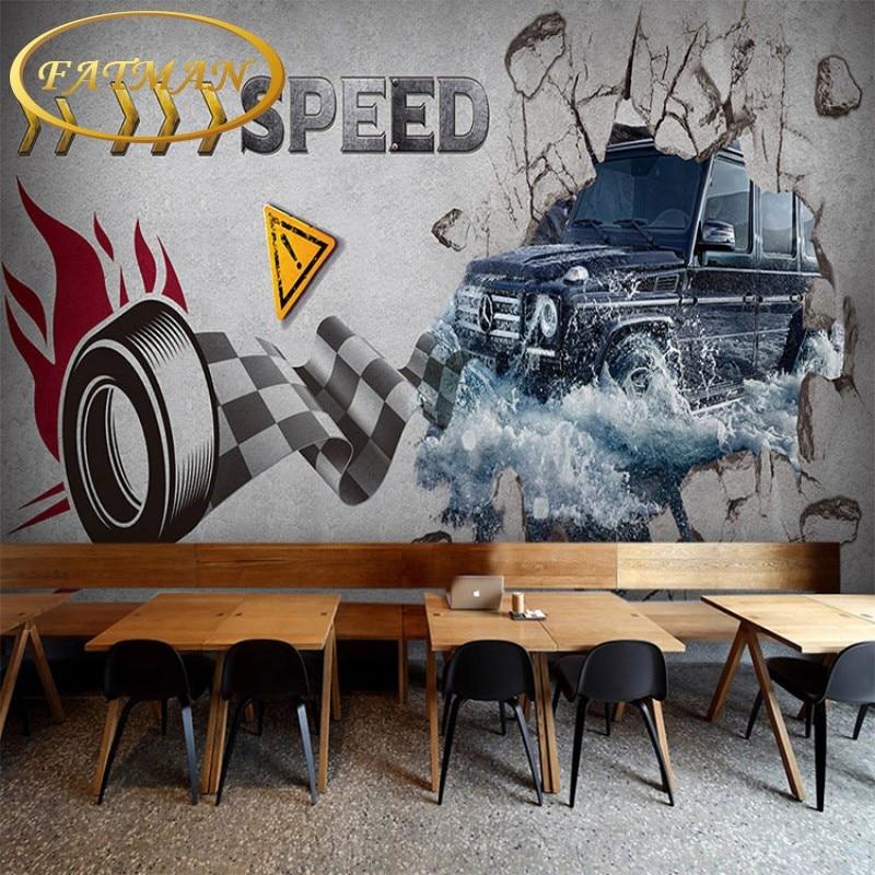 Custom 3D photo wallpaper 3D Car motocross mural living room sofa coffee house bar bedroom lobby wallpaper mural