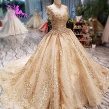 AIJINGYUวินเทจงานแต่งงานชุดไอร์แลนด์กวางโจวRobe Designsชุดออกแบบที่กำหนดเองชุดแต่งงาน