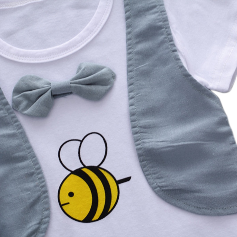 Boys Gentlemen Clothing Sets Summer Newborn Baby Boys Clothes Suit Casual Style Shirt+Shorts 2pcs Clothes Boys Summer Set