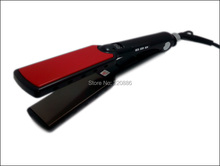 "1 1/2"" Wide Plates LED Display Flat Iron Professional Titanium Plates Hair Straightener GIC-HS107 Max.470F / 242C Free Shipping"