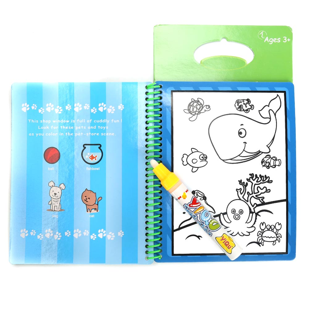 Learning Educational Toys Children Water Painting Repeated Copying Graffiti Coloring Book Board Drawing
