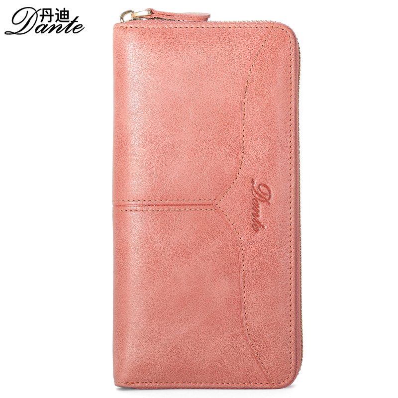 Dante Women Wallets Brand Design High Quality Genuine Leather Wallet Female zipper Fashion Long Women Wallets Coin Purse Clutch women wallets brand design high quality genuine leather wallet female zipper fashion dollar price long women wallets and purses
