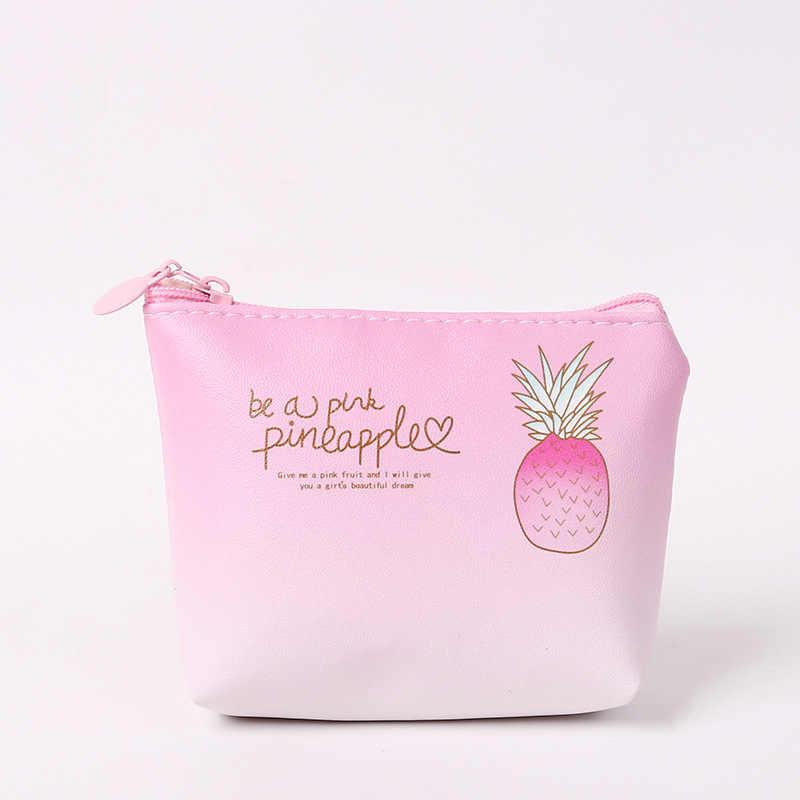 XZP Mulheres Charme Encantador Rosa Abacaxi Projeto Bolsa Da Moeda Chave Saco De Armazenamento Recipiente de Moda Mini Bolsa Da Moeda Saco Cartão da Carteira