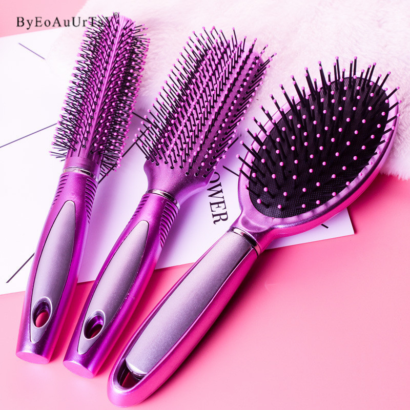 3 Shapes Hair Comb Scalp Massage Comb Hairbrush Bristle& Women Wet Curly Hair Brush for Salon Hairdressing Styling Makeup Tools