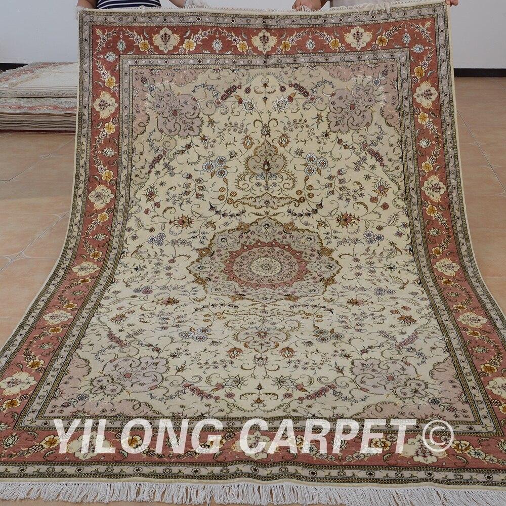 Yilong 6'x9 'Oriental nouvelle-zélande laine tapis exquis fait main laine tapis inde (1404)