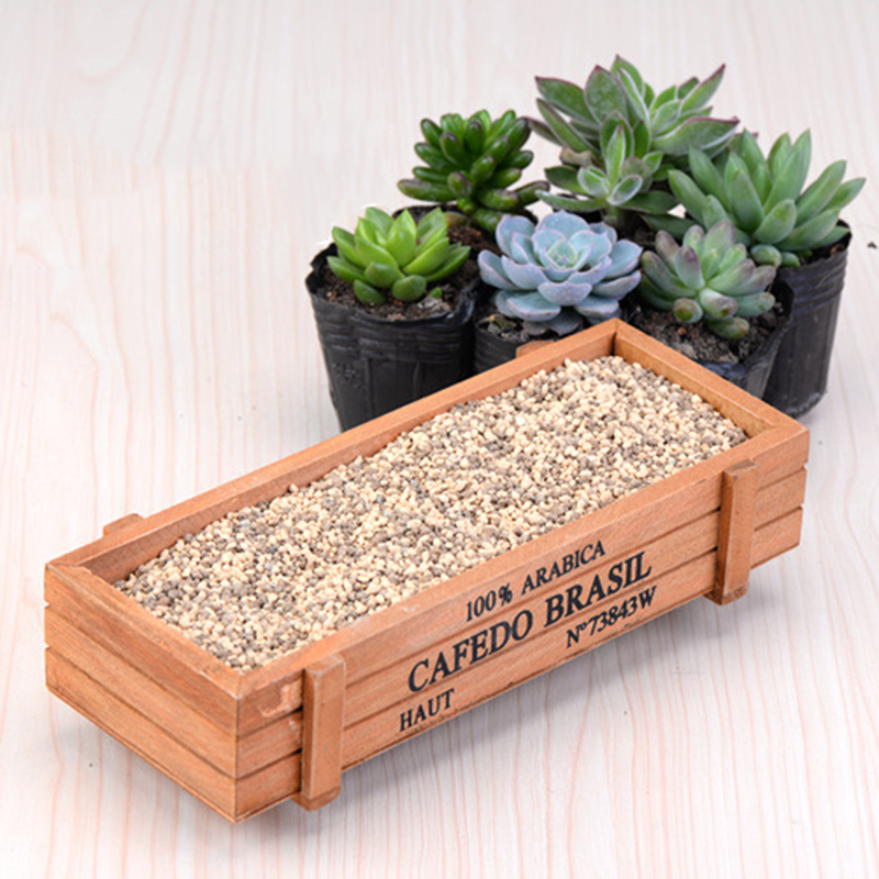 Vintage Rectangle Wooden Garden Planter Box Window Trough Pot Succulent  Flower Bed For Plant Tools(