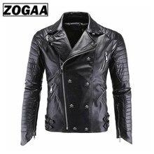 ZOGAA Michael Jackson Skulls Leather Biker Jackets Men Coats Slim Motorcycle Bomber Jacket Mens and